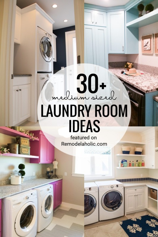 Medium Sized Laundry Room Ideas And Inspiration Featured On Remodelaholic.com