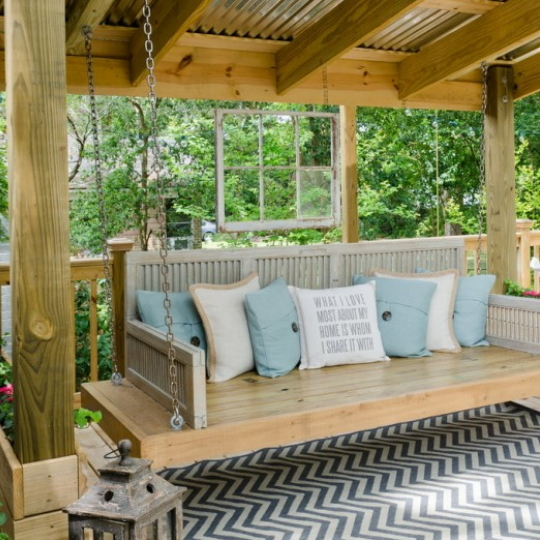 Porch Swing Shed