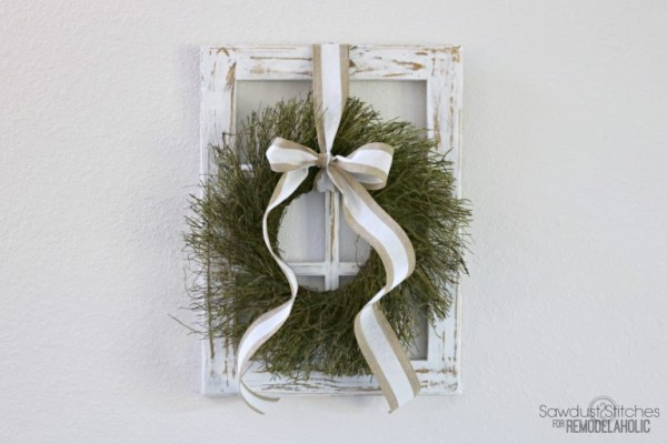 Rustic Window Frame By Sawdust2Stitches For Remodelaholic.com 768x512