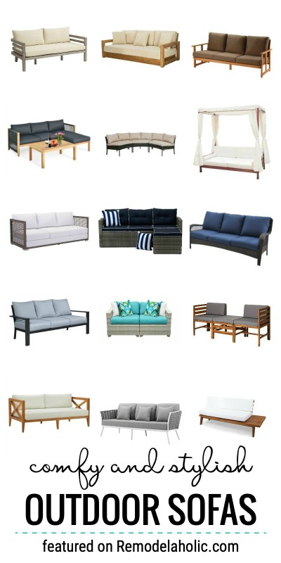 Where To Buy Comfy And Stylish Outdoor Sofas Featured On Remodelaholic.com