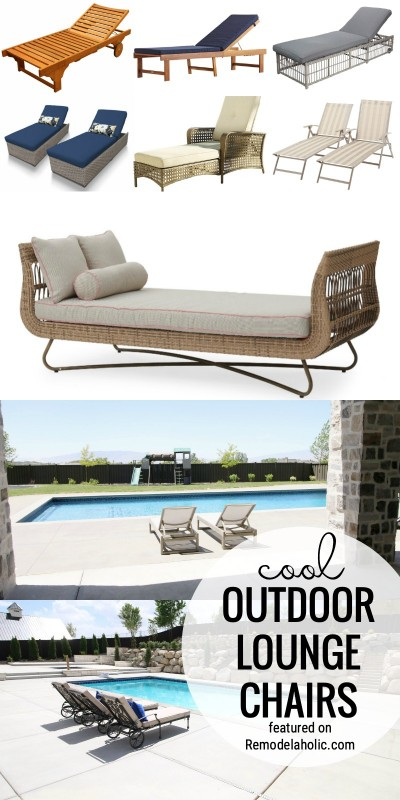 Add A Nice Place To Relax With One Of These Cool Outdoor Lounge Chairs To Buy Featured On Remodelaholic.com