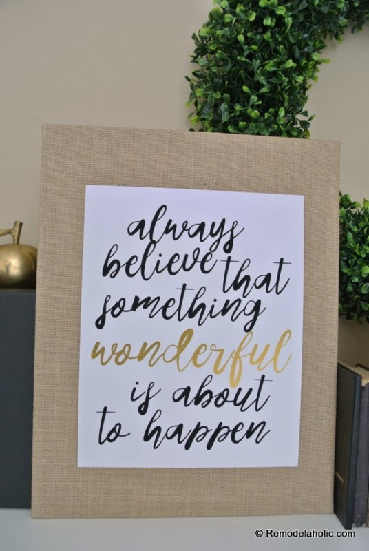 Printable Quote Always Believe That Something Wonderful Is About To Happen Remodelaholic 1