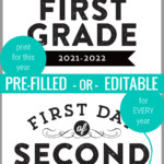 2021 2022 Or Editable First Day Of School Signs For Photos, Remodelaholic