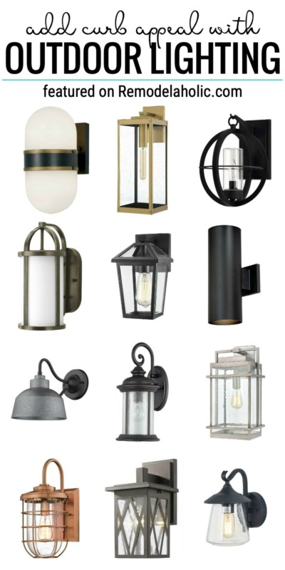 Add Curb Appeal With Outdoor Lighting And Where To Find Cute Sconce Lights Featured On Remodelaholic.com #outdoorlighting #sconces #exteriorlighting