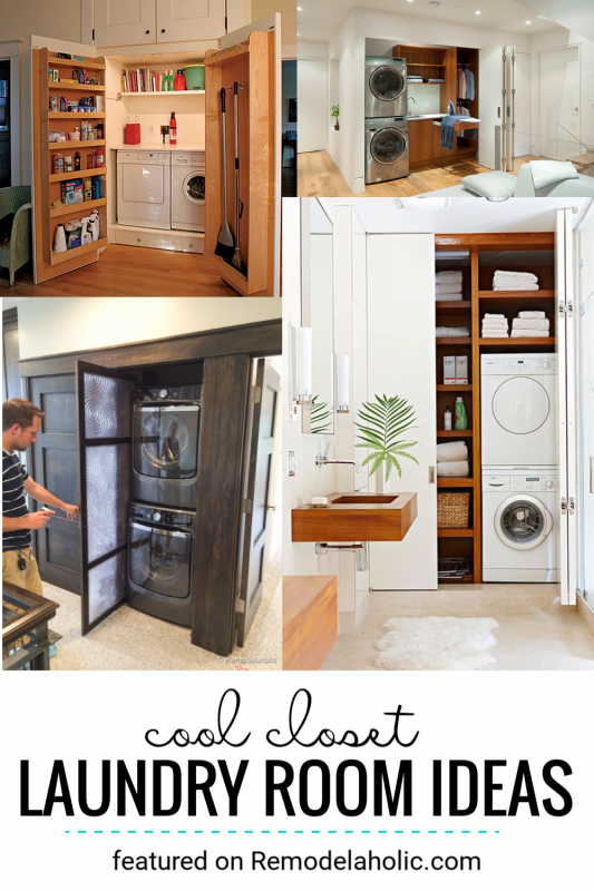 Closet Laundry Rooms And Built In Laundry Room Ideas Featured On Remodelaholic.com