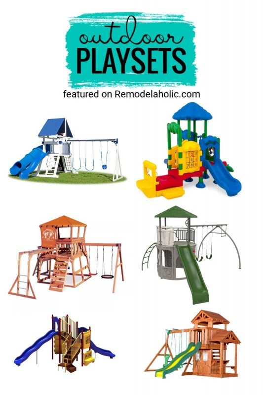 Have Fun In The Backyard With One Of These Outdoor Playsets To Buy Featured On Remodelaholic.com