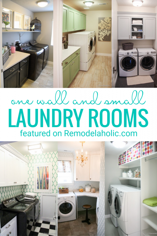 One Room And Small Laundry Rooms Full Of Inspiration And Design Ideas And More Featured On Remodelaholic.com