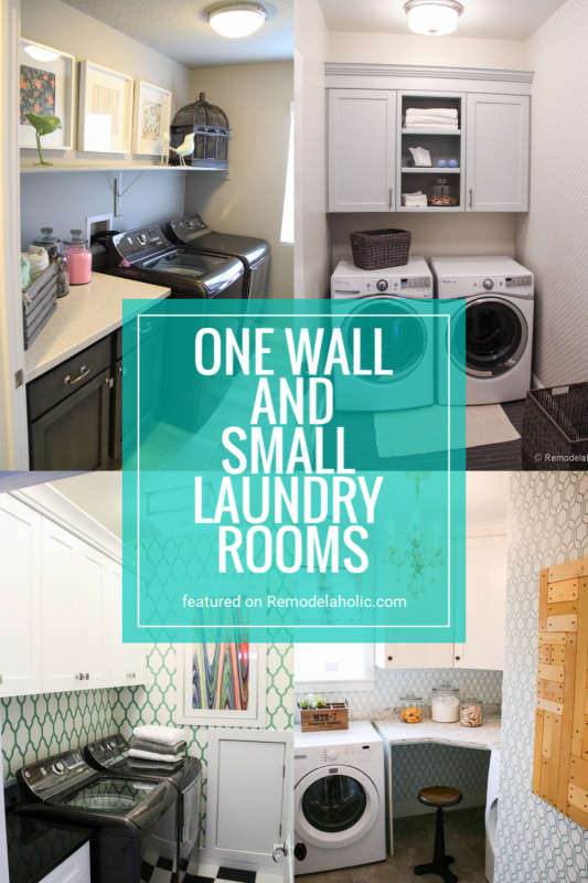 One Room And Small Laundry Rooms Full Of Inspiration And Design Ideas Featured On Remodelaholic.com