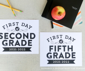 Printable First Day Of School Signs 2021 2022 Or Year Editable To Use Every Year Remodelaholic