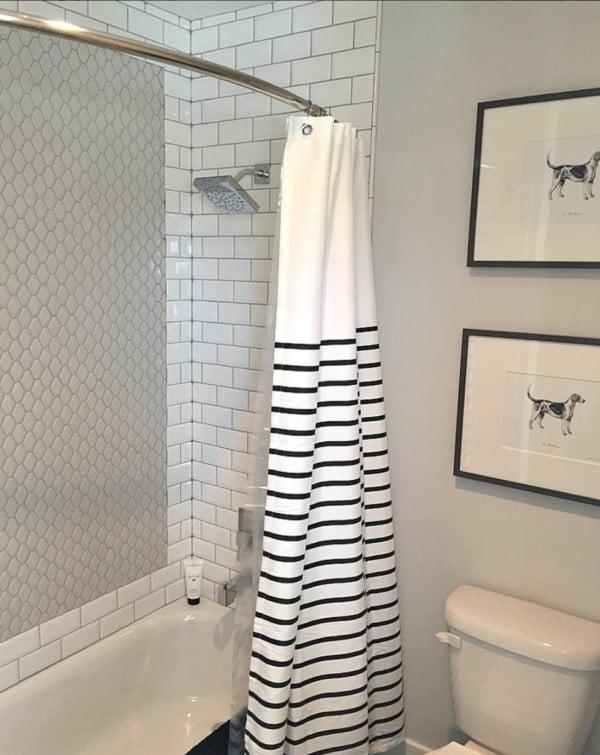 Remodelaholic On Instagram White And Black Bathroom