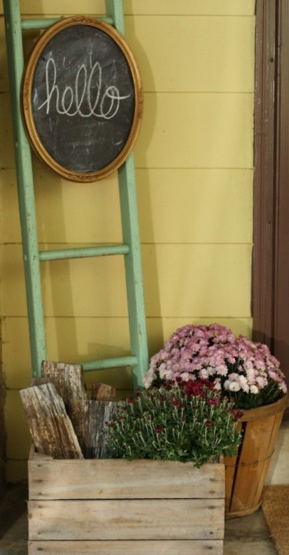 Blanket Ladder Porch Decor Idea, Primitive And Proper