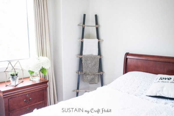 Diy Driftwood Blanket Ladder Decor Idea for Guest Room, Sustain My Craft Habit
