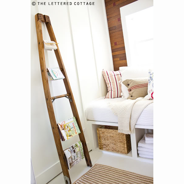 Diy Magazine Rack From Wooden Orchard Ladder, The Lettered Cottage
