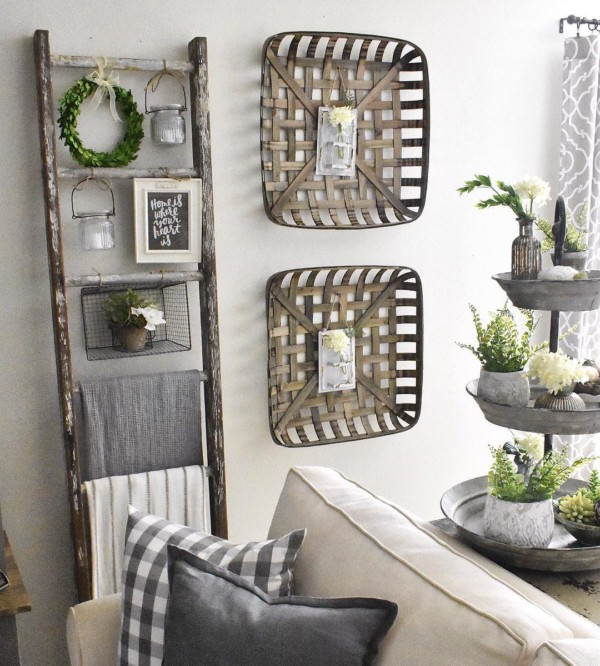 Easy Ladder Decor Ideas: Farmhouse Ladder Decor, Nested Sanctuary