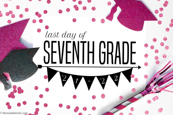 First Day Of School Sign Printable Black And White, Remodelaholic