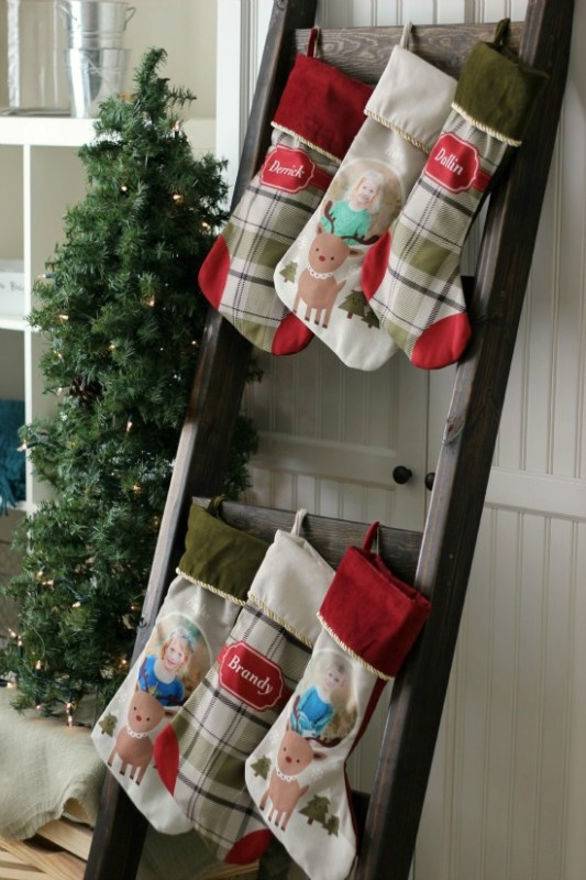 Stocking Ladder For Christmas Ladder Decor, Gluesticks Blog