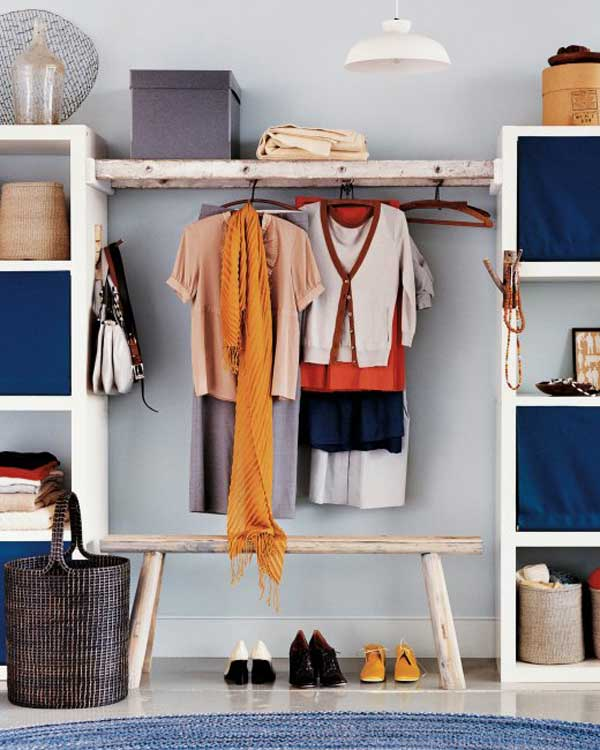 Wooden Ladder Closet Hanging Organizer, Martha Stewart