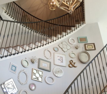 Instagram Remodeahoic Gallery Wall Along Staircase