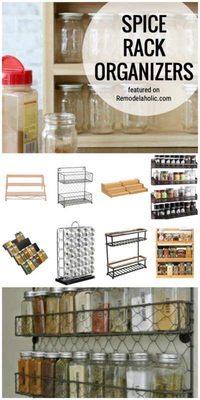 Spice Rack Organizing Ideas To Buy Or To Create Featured On Remodelaholic.com