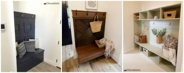 Three Pretty Examples Of Mudroom Benches From Home Shows Featured On Remodelaholic.com