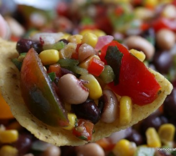 Texas Caviar Recipe For Fresh Salsa Dip Or Bean Salad #remodelaholic