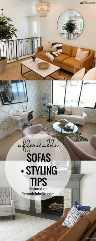 Find An Affordable Sofa Plus Tips For How To Style A New Sofa Featured On Remodelaholic.com