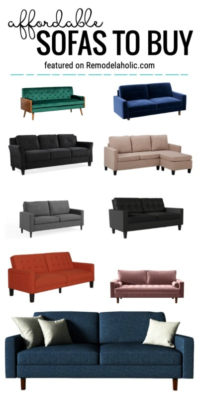 Find Modern And Beautiful Yet Affordable Sofas To Buy Featured On Remodelaholic.com