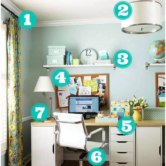 Get This Look Charming Organized Home Office