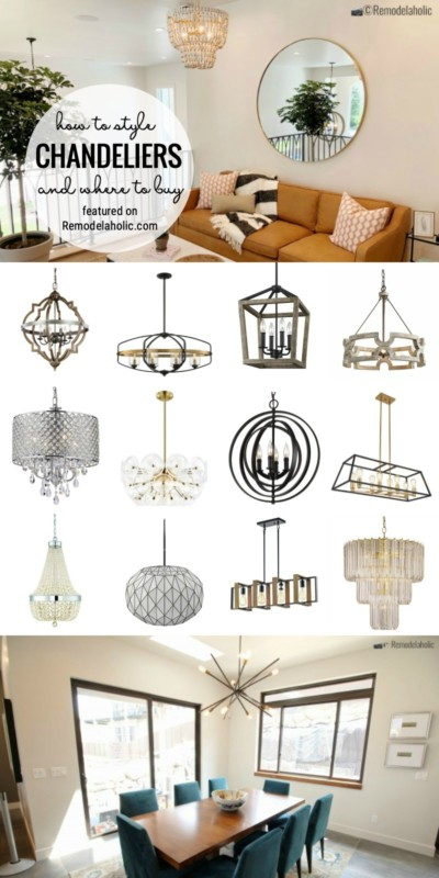 How To Style Chandeliers, Where To Buy Them And Our Favorites Featured On Remodelaholic.com