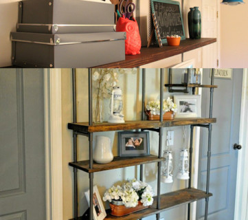Stay In Your Budget, But Get The Rustic Wood + Metal Shelves You've Always Wanted