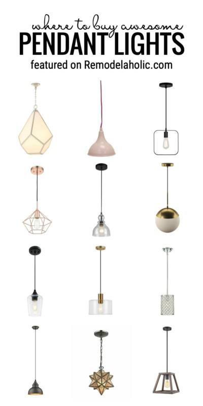 Where To Buy Awesome Pendant Lights And How To Style Them Featured On Remodelaholic.com