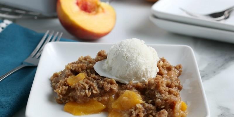 Easy Fresh Peach Crisp Recipe