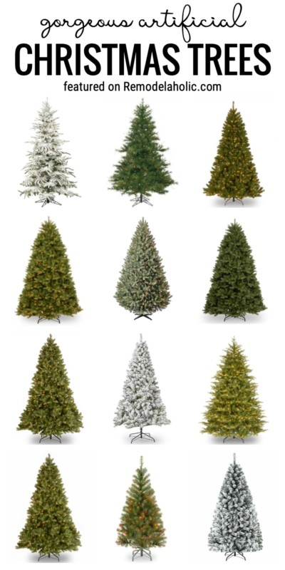 20 Gorgeous Artificial Christmas Trees Featured On Remodelaholic.com