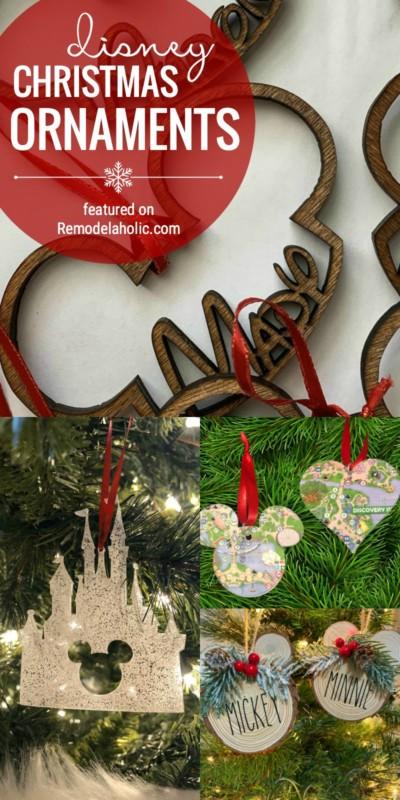 Décorations de Noël Disney pour acheter et décorer votre arbre de Noël avec en vedette sur Remodelaholic.com