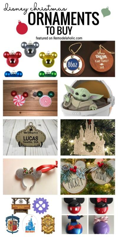 Ornements de Noël Disney à acheter et où les trouver en vedette sur Remodelaholic.com