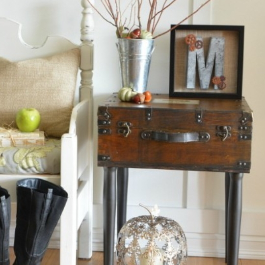 Friday Favorites Trunk Side Table And Pumpkins