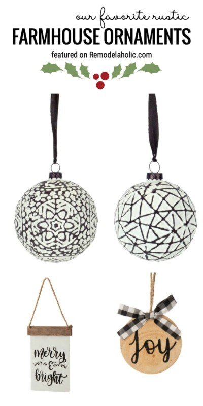 Our Favorite Rustic Farmhouse Ornaments For A Farmhouse Style Christmas Tree Featured On Remodelaholic.com