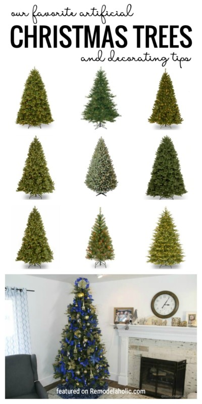 Our Favorite Artificial Christmas Trees And Decorating Tips Featured On Remodelahlic.com