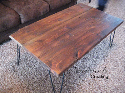 Reclaimed Wood Coffee Table With Hairpin Legs
