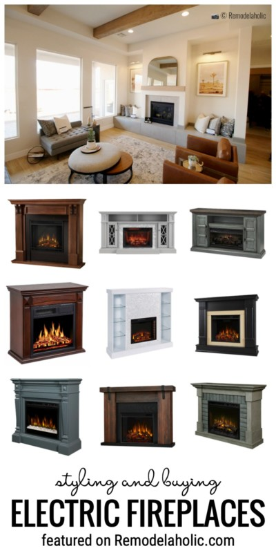 Tips For Styling, Buying And Decorating Electric Fireplaces Featured On Remodelaholic.com
