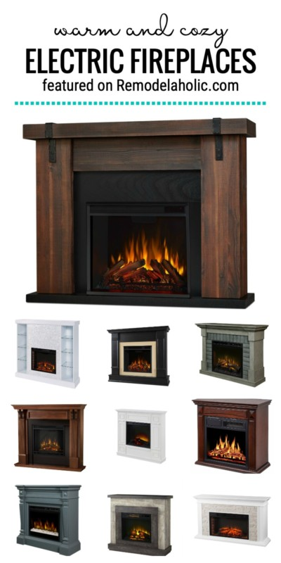 Warm And Cozy All Fall And Winter Long With These Pretty Electric Fireplaces To Buy And How To Style Them Featured On Remodelaholic.com