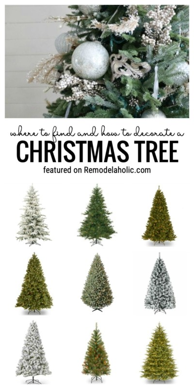 Where To Buy And How To Decorate A Beautiful Artificial Christmas Tree Featured On Remodelaholic.com