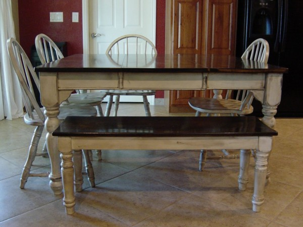 White And Brown Wood Kitchen Table