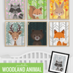 Printable Woodland Animal Nursery Art Set, All Seasons Plus Night Sky Remodelaholic