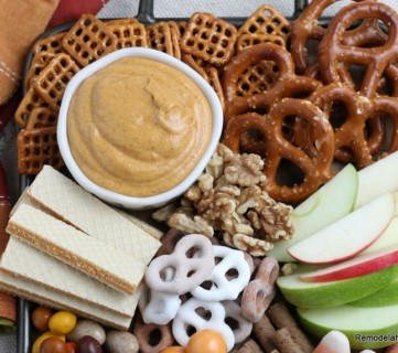 Serve Creamy Pumpkin Dip With Pretzels Apples Cookies Gingersnaps Wafers, Recipe At Remodelaholic
