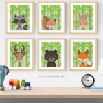 Summer Woodland Animal Nursery Art Printable Set Vertical Remodelaholic