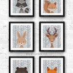 Winter Gray Birch Woodland Animal Nursery Art Printable Set Remodelaholic
