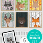 Woodland Animal Nursery Art All Seasons Plus Night Sky 7 Scenes 6 Woodland Creatures Remodelaholic