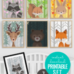 Woodland Animal Nursery Art All Seasons Plus Night Sky Choose 7 Seasonal Scenes Remodelaholic
