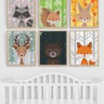 Woodland Animal Nursery Art All Seasons Plus Night Sky Download Remodelaholic